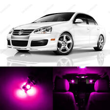 9 x Pink/Purple LED Interior Light Package For 2005 - 2010 VW Jetta MK5