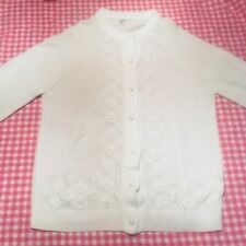 Vintage Terry Turner White Cardigan 42