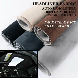 Faux Suede Foam Upholstery Fabric Perfect for Auto Headliner Roof Lining Restore