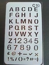 Stencil Alphabet Numbers Shapes Cardmaking Scrapbooking Journal Planner Craft 10