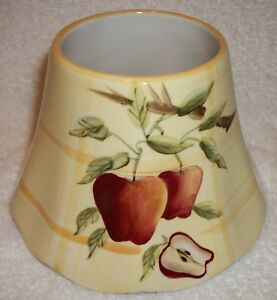 Home Interiors & Gifts Homco Apples Candle SHADE Excellent Free Shipping!