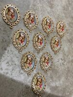 CATHOLIC ROSARY PARTS GOLD TONE LOT 10 Pc  Mother Mary Centerpiece **USA SELLER*
