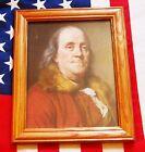 Внешний вид - American Patriot of the Revolution, Portrait Benjamin Franklin, on canvas 1778