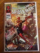 SIGNED W/COA Spectacular Spider-Man 1 J Scott Campbell Variant Cover D Gwen SDCC