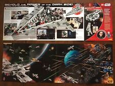 3 Star Wars posters. The Power of the Dark Side from LEGO Brickmaster Magazine