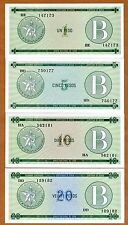 SET of 4 Foreign Exchange Certificates, UNC