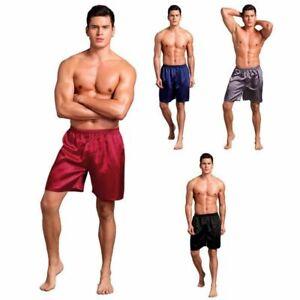 Mens Satin Silk Boxers Shorts Sleepwear Underwear Pants Nightwear Pyjamas Hot