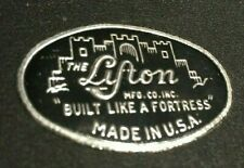 Vintage Lifton Guitar Violin Fiddle Music Case Logo Badge Made In New York Usa