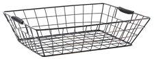 Dark Copper Wire Basket Desk Top Storage Office Paper In Tray Organiser Tidy