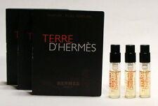 TERRE D' HERMES PURE PARFUM POUR HOMME mini spray 1.5 ml. 0.05 fl.oz. 3 UNITS