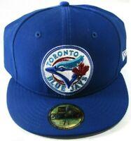 Toronto Blue Jays Blue/White MLB New Era 59Fifty Fitted Hat Cap 7 3/4 Rare!