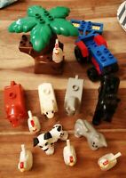 LEGO DUPLO FARM SET TRACTOR & ROLLER TREE & ANIMAL FIGURES SHEEP HORSES COW DOG