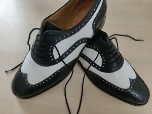 Shoepassion No. 380 Spectator rahmengen. EU 45 / UK 10.5 + Schuhspanner + Pomade