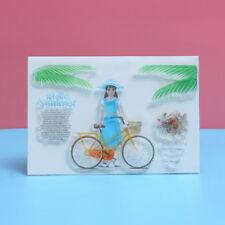 Transparent Stamps Scrapbooking Silicone Rubber Flower Girl DIYCrafts CardsAlbum