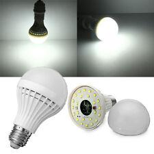 E27 5W Pure White Microwave Radar Body Sensor LED Light Bulb 220V