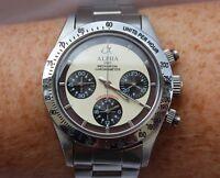 Alpha Mechanical chronograph SG2903 Watch Cream Dial And Glass Display Back 832