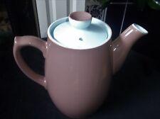 GOOD SIZE LANGLEY STONEWARE COFFEE / TEA POT CARAMEL & SKY BLUE UNUSED CONDITION
