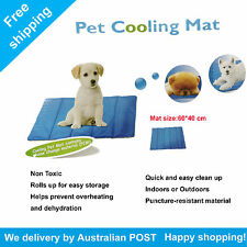 Cooling Cool Water Gel Mat Summer Pad Non-Toxic for Pet Dog Cat Bed 60x40cm