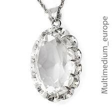 ART DECO Argent Pendentif Cristal de Roche vitage Silver HOMOLOGUE MOUNTAIN CRYSTAL
