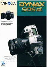 MINOLTA DYNAX 505 si SALES LEAFLET 1998: 2-PAGE A4 COLOUR SHEET