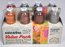 Hilos de costura y mercería multicolores de poliéster