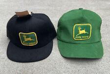 Vintage John Deere Hat Lot Louisville Mfg Snapback Retro USA Farm Advertising Co