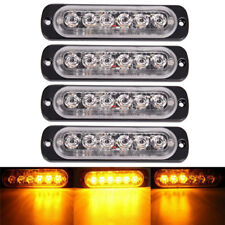 Amber 6 LED 18W Bar Car Truck Lightning Flash Emergency 12V-24VCS