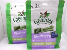 New listing 2 Greenies Dental Dog Treats Teenie Blueberry 12 Oz 43 Treats Each Bag 7/2021+