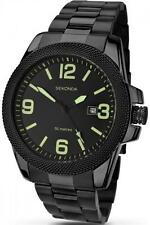 Sekonda 1044 Gents Quartz Analogue Date Black Ion Plated 50m Watch RRP £79.99
