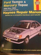 36078)HAYNES MANUAL FORD TEMPO & MERCURY TOPAZ 1984-1994 VERY GOOD FREE SHIPPING