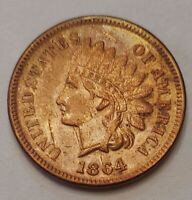 1864-L Indian Head Cent Grading AU/UNC Beautiful Coin Priced Right FREE S&H  i96