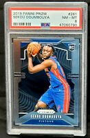 2019 Prizm RC Pistons SEKOU DOUMBOUYA Rookie Basketball Card PSA 8 NM-MT Low Pop