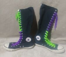 Converse Chuck Taylor X HI High Top Tall Boots Knee Gray Women Sz 10 Black Goth