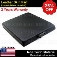 Leather Center Console Lid Armrest Cover Skin Fits Nissan Titan 2004-2014 Black