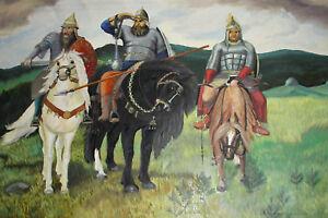 Vintage large oil painting Viktor Vasnetsov reproduction