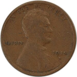 1915-D United States Lincoln Wheat One Cent - F Fine Condition