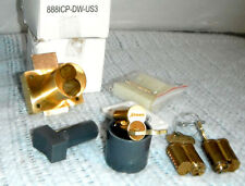Olympus Drawer Lock & Arrow Keyed IC Core Brass Finish Bundle Set for 3 Drawers