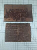 Vintage Copper Printing Plate Of Passengers Aboard The Ancon Steamship B35