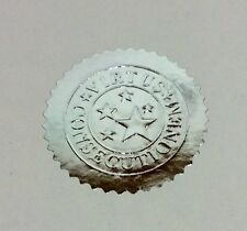 30 x Silver Foil Seal Stickers. Embossed Wafer Thin 50mm Labels for Certificates