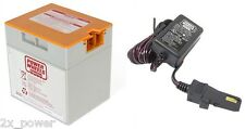 12 Volt Orange Battery & Charger Combo Power Wheels Fisher Price 12V 00801-1661