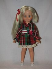 Vintage Ideal Velvet Grow Hair Doll From The Crissy Family Wearing Plaid Dress