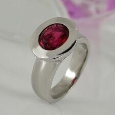 Ovale Echtschmuck-Ringe mit Turmalin-Hauptstein für Damen