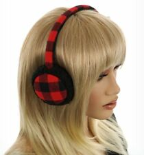 Nwt – Madden Girl Buffalo Check Earmuffs Red/Black One Size Msrp $26