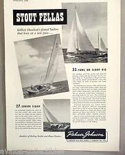 Palmer Johnson, Sturgeon Bay Boat Works PRINT AD - 1948 ~ yawl, sloop boat,yacht