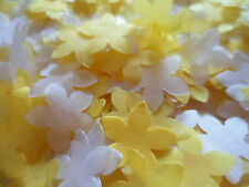 Golden Yellow and White Tissue Flowers Wedding Confetti Celebration Decoration