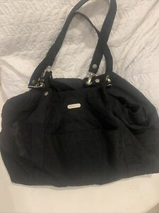 Baggallini  Extra Large Travel Shoulder Bag  Tote Purse Black