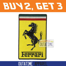 Offer Buy 2,Get 3 > Large Ferrari 100% Embroidered Logo Crest Badge Patch