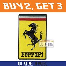 """Offer Buy 2,Get 3   Large Ferrari Embroidered Logo Crest Badge Patch 7.5"""" (H)"""