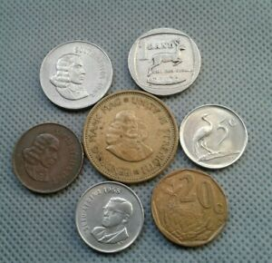 WORLD OLD COIN LOT*****AFRIKA 1963-65-67-68-71-91-96 * 7 COINS COLLECTIBLES*****