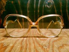 Vtg Givenchy Nico Large Frame Eyeglasses Yellow/Orange/Brn France Givenchy Case